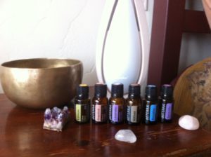 Singing bowls and essential oils