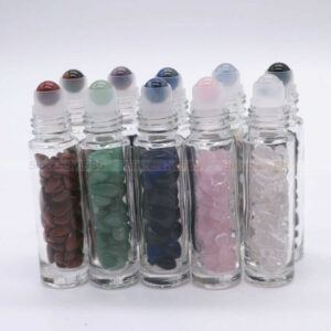 Crystal essential oil bottles